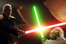 Dooku im Duell mit Meister Yoda