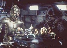 C-3PO und Chewbacca spielen Dejarik