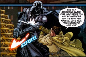 Cortosisklinge 'im Einsatz' gegen Darth Vader