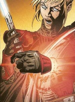 Elke Vetter verliert ihre linke Hand im Kampf gegen Darth Talon