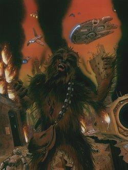 Chewie, unmittelbar vor seinem Tod auf dem Planeten Sernpidal