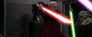Darth Sidious vs Kit Fisto