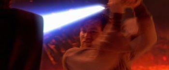 Obi-Wan Kenobi duelliert sich mit Anakin Skywalker auf Mustafar