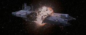 Das Droidenkontrollschiff explodiert