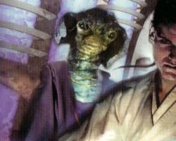 Ein Rutanianer (vorne rechts: der junge Obi-Wan Kenobi)