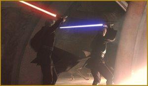 Dooku duelliert sich mit Anakin Skywalker