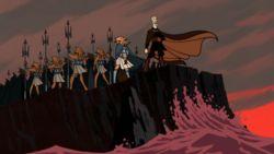 Dooku und einige Mitglieder der Quarren-Isolationsliga auf Mon Calamari