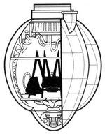 Querschnitt eines MT-AT Kokons