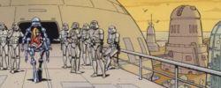 Sturmtruppen bewachen den Eingang zum Museum