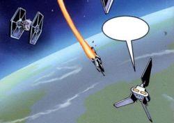 Darth Vader im Anflug auf Jazbina
