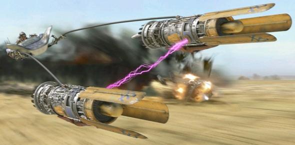 Anakins Podracer mit den Radon-Ulzer Triebwerken