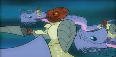Mon-Calamari-Ritter auf ihren Keelkanas