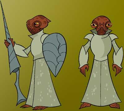 Zwei Mon-Calamari-Ritter