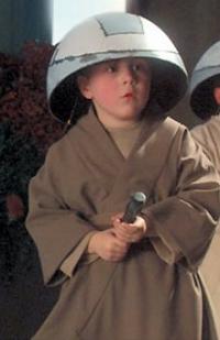 Liam nach einem Lichtschwert-Training