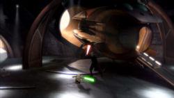 Dookus Hangar und sein Solarsegler befinden sich im N'ge'u-Canyon. Hier duellierte sich Dooku auch mit seinem ehemaligen Meister Yoda.