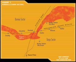 Eine Karte des Bormea-Sektors