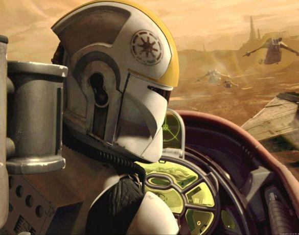 Ein Pilot der Klonarmee