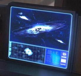 Eine Galaxis-Karte im Jedi-Archiv