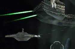Die RAS Arrestor feuert auf das Seperatistenschiff