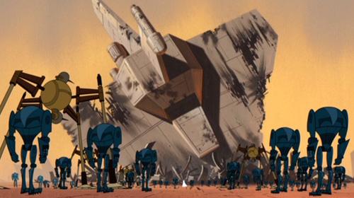 General Grievous' Truppen haben die letzte Zuflucht der Jedi umstellt