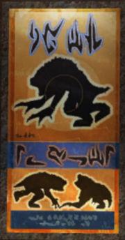 Ein Plakat in huttischer Schreibweise