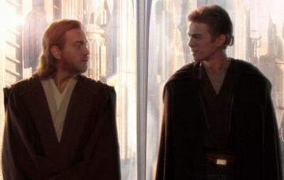 Ein Meister-Padawan-Team: Obi-Wan Kenobi (links) und Anakin Skywalker