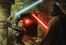 Leia duelliert sich mit Darth Vader auf Mimban