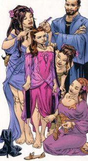 Leia wird von ihren Tanten zurechtgemacht