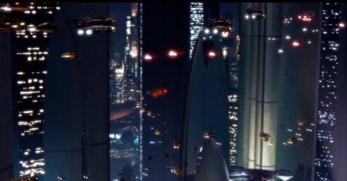 Coruscant bei Nacht
