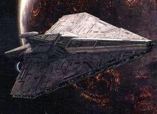 Ein Schiff der Acclamator Klasse.