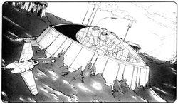 Ein Shuttle im Anflug auf Ilic