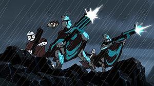 Die Soldaten des Hawkbat-Bataillons