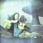 Die junge Amidala mit zwei Boranianern. Einer von ihnen ist ihr Freund N'a-kee-tula