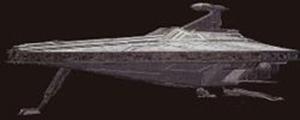 Ein Angriffsschiff der Acclamator-Klasse.