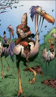 Ki-Adi-Mundi reitet auf einem Aryx