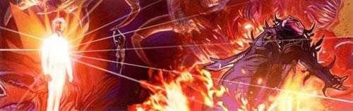 Onimi (rechts) wird von Jacen Solo besiegt