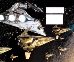 Die Flotte der Republik im Orbit von Murkhana