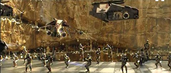 Einheiten der GAR landen auf Utapau.
