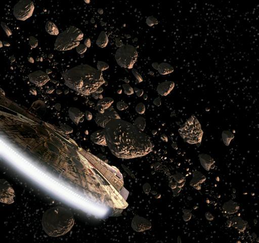 Der Rasende Falke im Asteroidenfeld des Planetens Hoth