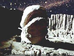 Eine Weltraumschnecke in einem der Asteroiden von Hoth
