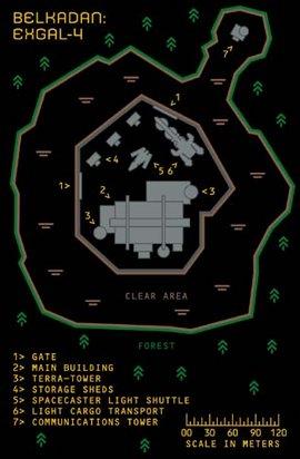 Eine Karte ExGal-4's
