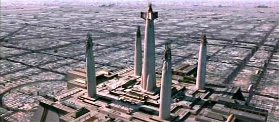 Der Jedi-Tempel auf Coruscant.
