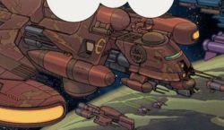 Das Schlachtschiff Raptor