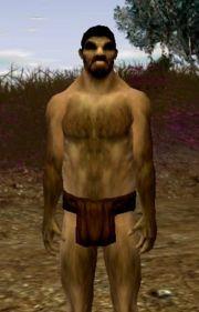 Ein Krieger des Mokk-Stammes