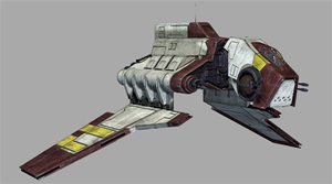 Ein Angriffs-Shuttle der Nu-Klasse