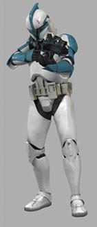 Ein Klon-Leutnant der GAR