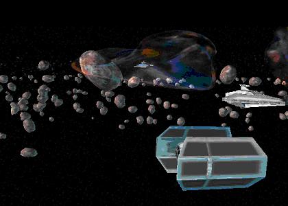 Bild der Vergesso Asteroiden mit imperialer Flotte