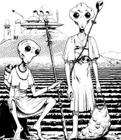 Zwei Xan auf ihrer Heimatwelt Algara II