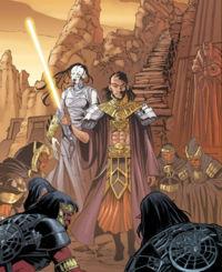 Muur und XoXaan treffen auf Korriban das Sith-Volk