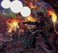 Tarkins Truppen werden vor dem Mount Avos angegriffen. Viele Soldaten verlieren dabei ihr Leben